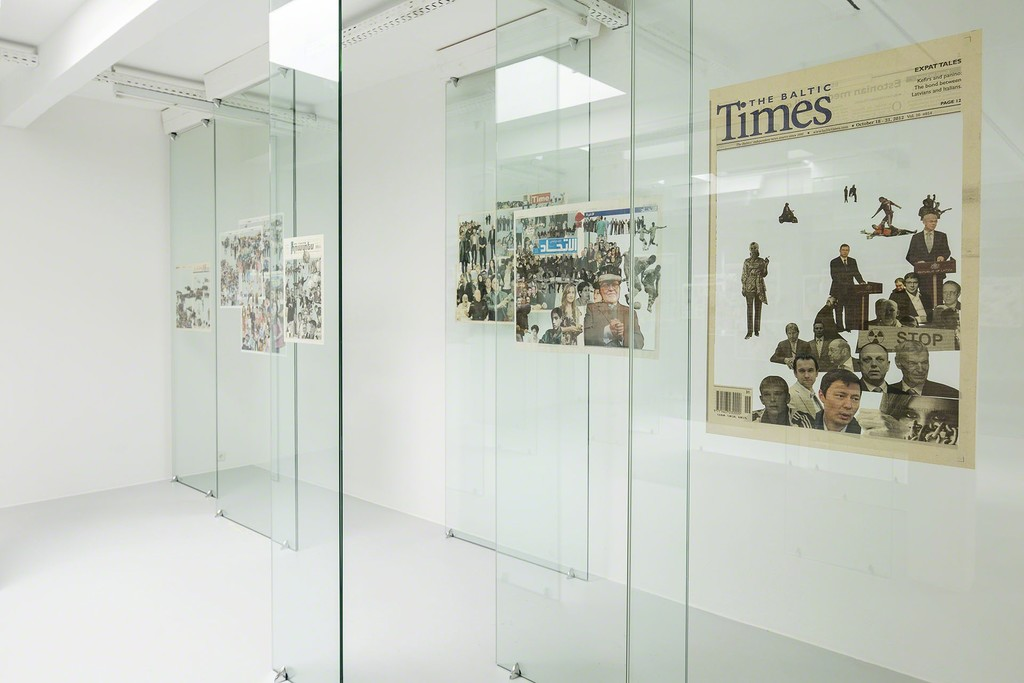 Zhanna Kadyrova installation view Crowd. Year, 2012 newspaper, tempered glass Production and exhibition PinchukArtCenter Kiew, Ukraine Courtesy the artist and GALLERIA CONTINUA, San Gimignano / Beijing / Les Moulins / Habana photo: Christian Vorhofer