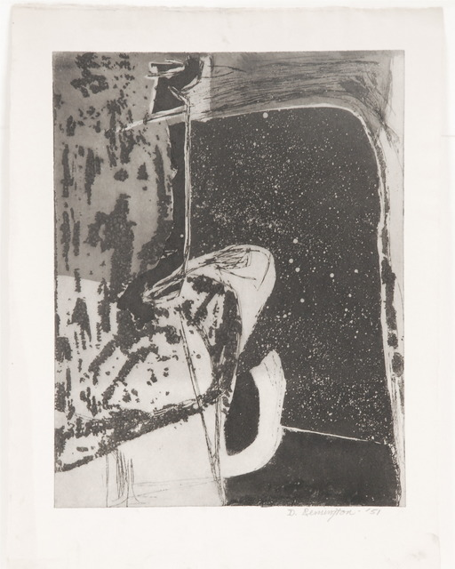 Deborah Remington, 'Untitled B&W Abstraction #4', 1951, Sragow Gallery