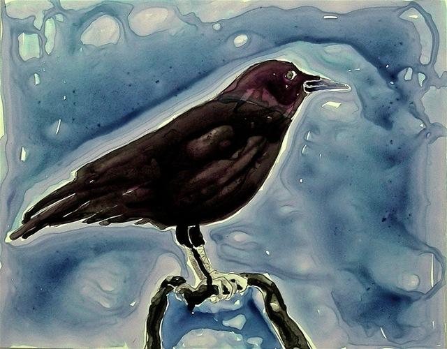 , 'Wet Crow,' 2009, Walter Wickiser Gallery