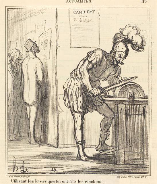 Honoré Daumier, 'Utilisant les loisirs...', 1869, National Gallery of Art, Washington, D.C.