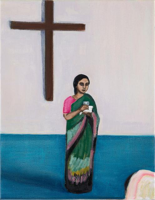 Matthew Krishanu, 'Woman and Cross', 2019, Painting, Oil on canvas, Jhaveri Contemporary