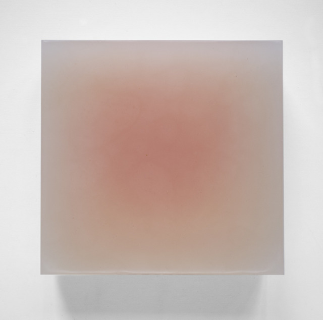 Steven Day, 'Untitled', Painting, Orange wax, oil and gesso on wood, Gallery Nosco