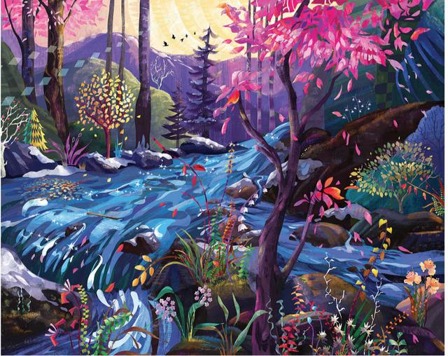 , 'Stream of dreams - Original oil painting,' 2018, Newport Brushstrokes Fine Art