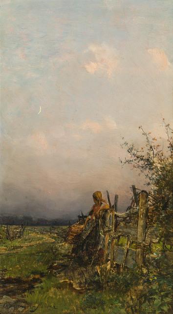 , 'At dusk,' ca. 1885, Galerie Kovacek & Zetter