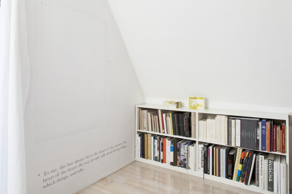 Installation view of Footnote #5 by Alejandro Cesarco