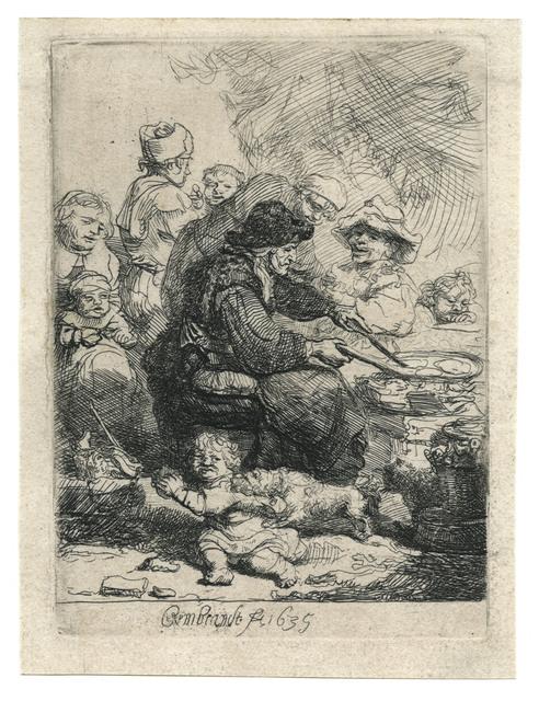 , 'The Pancake Woman,' 1635, August Laube Buch & Kunstantiquariat