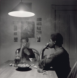 Untitled (man smoking) from Kitchen Table Series