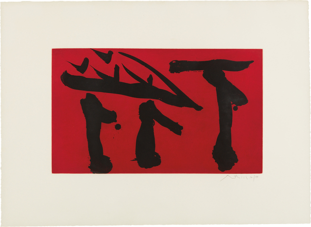Robert Motherwell, 'Pull Out All Flags', 1980, Phillips