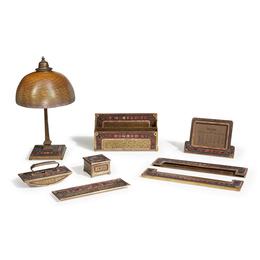 Eight-Piece Desk Set, New York