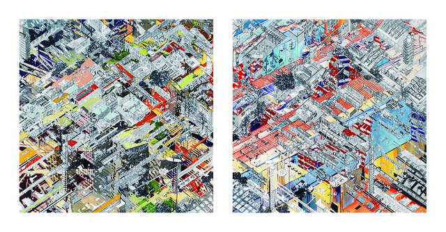 , 'Mirage City I, II,' 2014, Gallery Hyundai