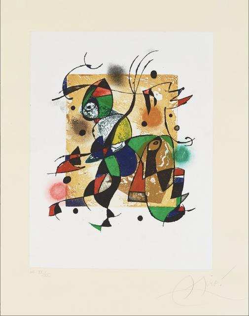 Joan Miró, 'Gaudi XVI', 1972, Print, Etching, Christopher-Clark Fine Art