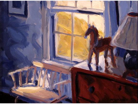 Philip Koch, 'Hopper's Bedroom and Bench', Addison Art Gallery