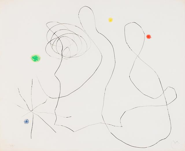 Joan Miró, 'Flux de l'Aimant XVI', 1964, Print, Dry point with aquatint in colors, Rago/Wright