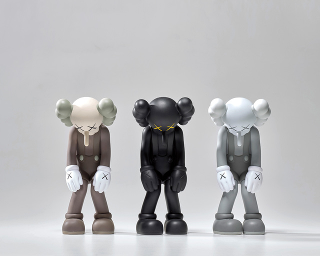 KAWS, 'SMALL LIE (BROWN); SMALL LIE (BLACK); and SMALL LIE (GREY)', 2017, Phillips