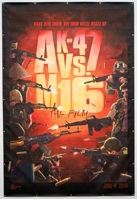 The Propeller Group | Movie Poster for The AK-47 vs  M16