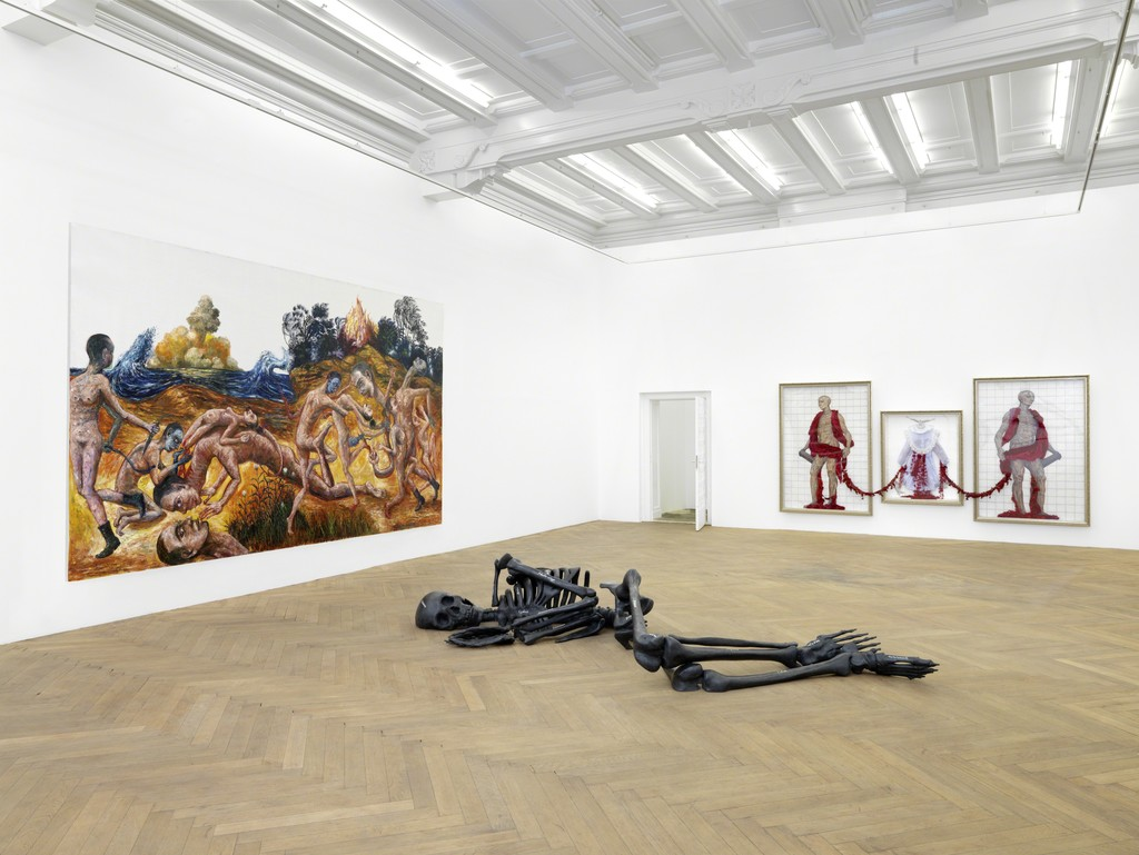 """Installation view. """"ASIA: Looking South"""", ARNDT, Berlin, Germany. September 10 - October 27, 2011. Photo: Bernd Borchardt"""