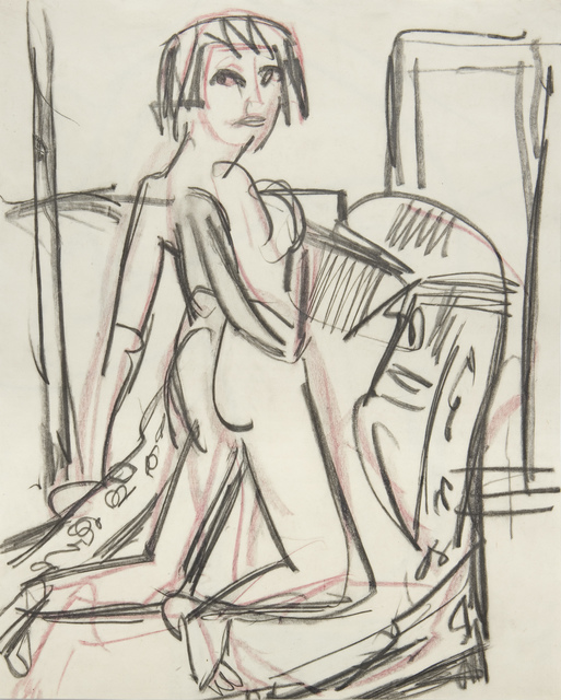 Ernst Ludwig Kirchner, 'Naked Girl on a Canapé', 1924, W&K - Wienerroither & Kohlbacher