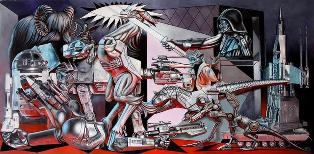 , 'Star Wars Guernica,' 2016, Allouche Gallery