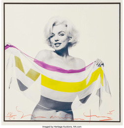 Marilyn Monroe with Striped Scarf