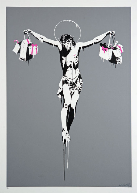 Banksy, 'Christ With Shopping Bags (Signed)', 2004, Prescription Art