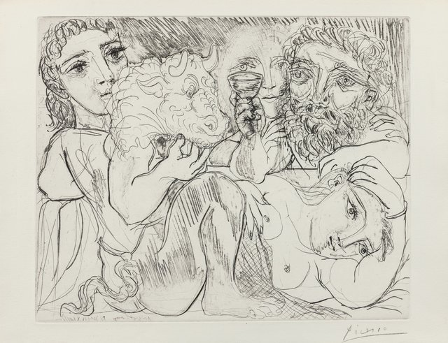 Pablo Picasso, 'Minotaur, Drinking Sculptor, and Three Models', 1933, Heritage Auctions