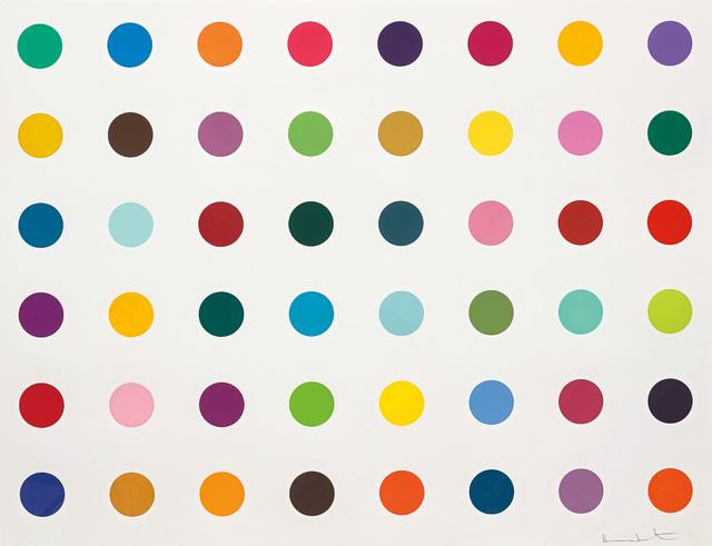 Damien Hirst, 'Fluoroiodobenzene, from 12 Woodcut Spots', 2010, Phillips