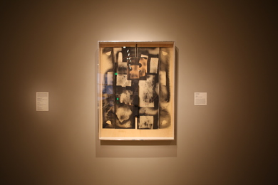 Installation shot of Louise Nevelson's Collage (1974).