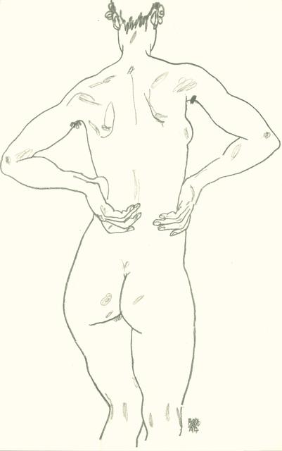 , 'Weiblicher Rückenakt,' 1990, Wallector