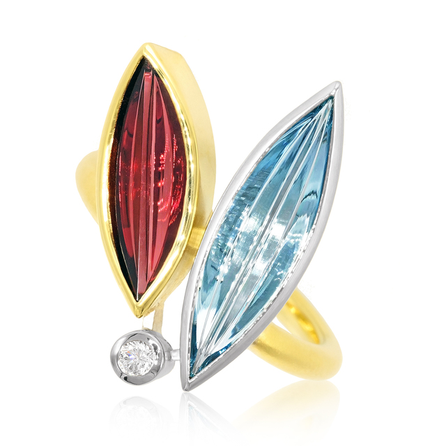 , 'Aqua Garnet Diamond Erotik Ring,' 2017, Szor Collections