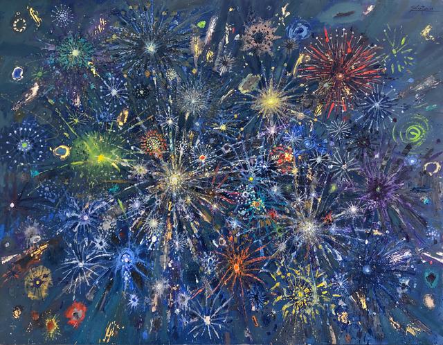 Bruno Zupan, 'Fireworks Green Comets', 2019, Galerie d'Orsay