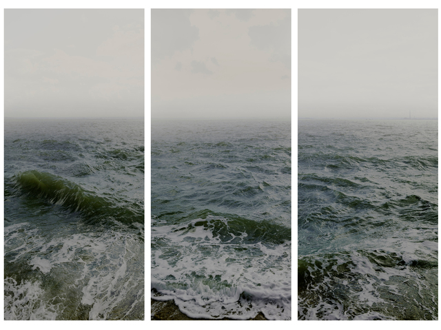 , 'Water I (Shoeburyness towards the Isle of Grain) Parts 1, 2 & 3 (Triptych),' 2016, Flowers