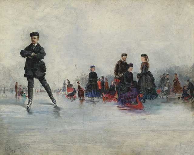 , 'The Skating Party, Paris,' 1869, Questroyal Fine Art