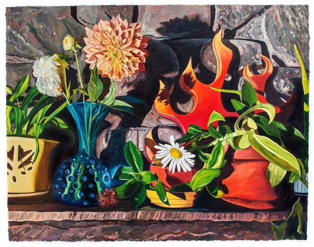 Julia Whitney Barnes, 'Dear Dahlia/Domestic Bliss (framed)', 2017, Front Room Gallery