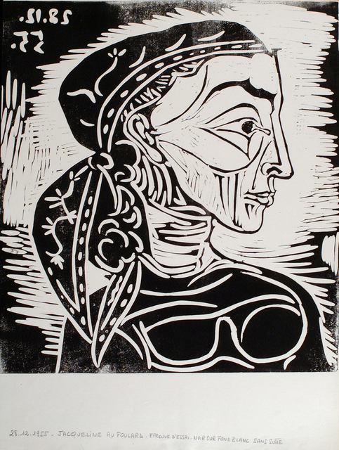 , 'Profil de Jacqueline au Foulard,' 1955, Frederick Mulder