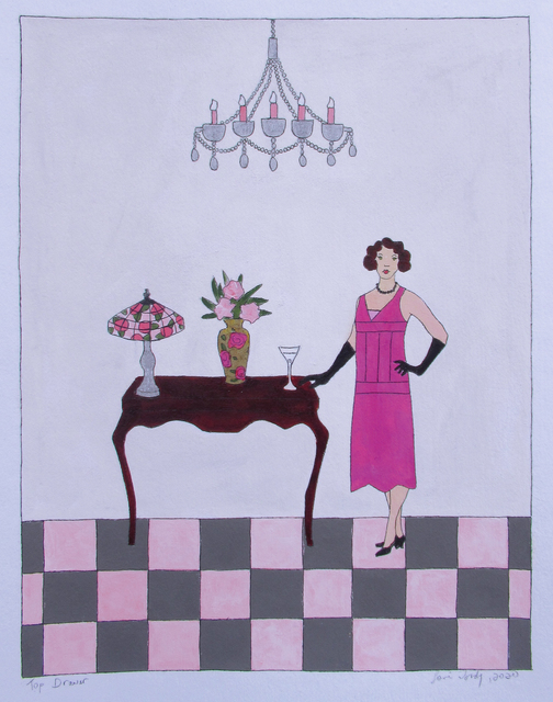 Lori Doody, 'Top Drawer', 2020, Drawing, Collage or other Work on Paper, Mixed media on paper, Gallery 78