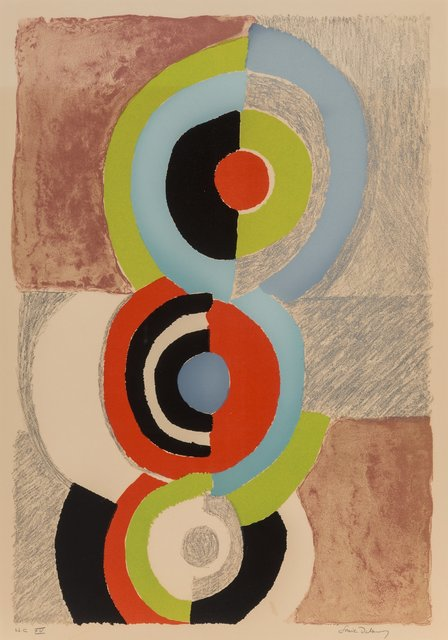 Sonia Delaunay, 'Les trois graces', 1972, Print, Lithograph in colors on wove paper, Heritage Auctions