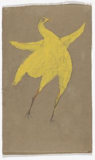 Bill Traylor, Yellow Chicken, ca. 1939–1940, gouache and pencil on cardboard. The Museum ofModern Art, New York, Gift of Charles and Eugenia Shannon. Digital Image © The Museum ofModern Art/Licensed by SCALA/Art Resource, NY