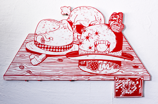 , 'Hats and Skull,' 2014, Micheko Galerie