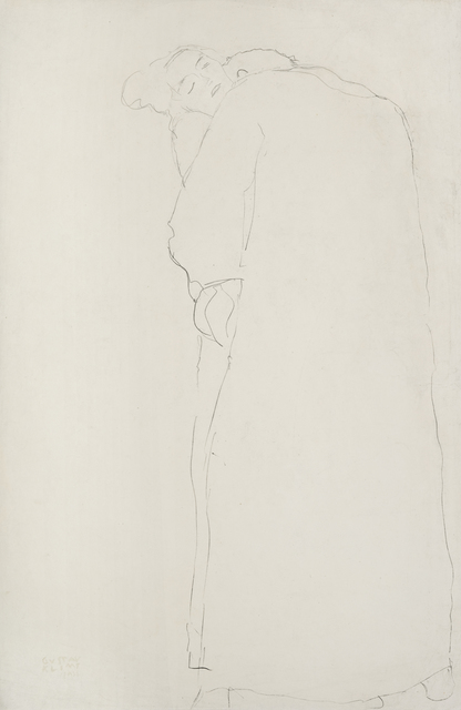 ", 'Standing Lovers, Study for ""Fulfillment"" in the Stoclet-Frieze,' 1907-1908, W&K - Wienerroither & Kohlbacher"