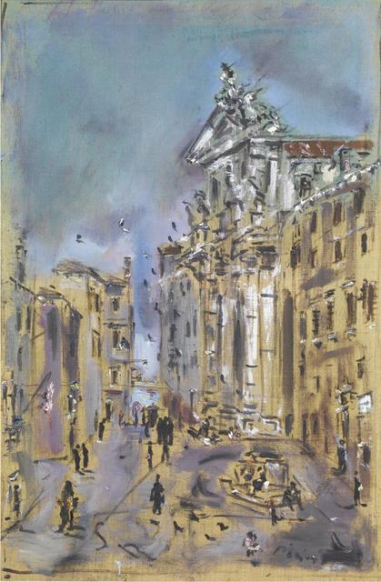 Filippo De Pisis, 'Venezia, Chiesa dei Gesuiti', 1946, Painting, Oil on canvas, Tornabuoni Art