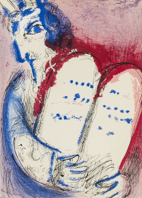 Marc Chagall, 'Moses II; Moses III (from Verve Vol. VIII) (Cramer 25)', 1956, Print, Two lithographs printed in colours, Forum Auctions