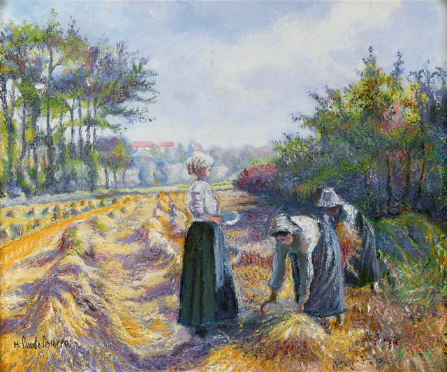 Hugues Claude Pissarro, 'Les Moissonneurs de Proussy (Harvesters of Placy)', 1940,  M.S. Rau Antiques
