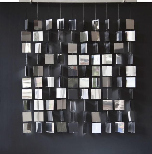 , 'Movil cuadrado plateado sobre negro ,' 2008, Galería La Cometa