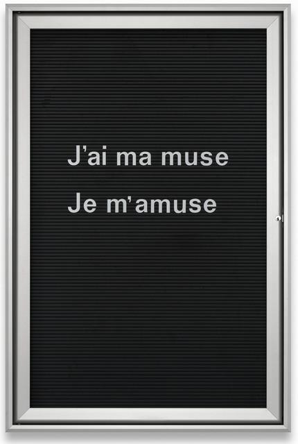 , 'Untitled (J'ai ma muse…) REF: 007 237 Ed. 2/2,' 2013, Galerie Hollenbach