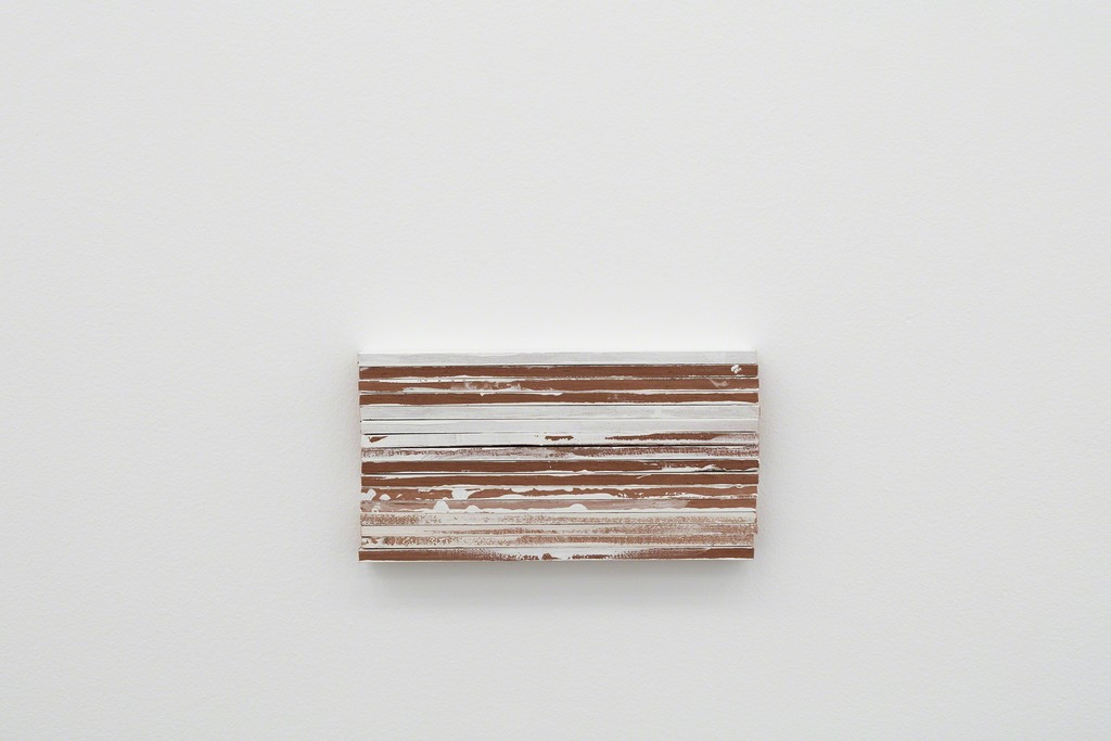 Fernanda Gomes Untitled, 2016 wood, paint, nails 6,3 x 11,8 x 1,2 in