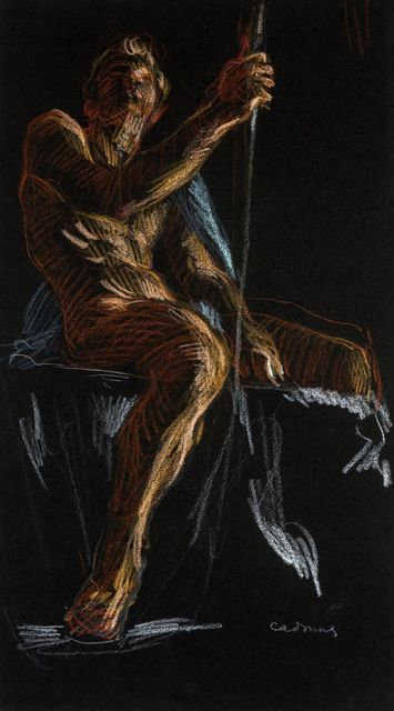 , 'Seated Male Nude,' ca. 1970, Childs Gallery