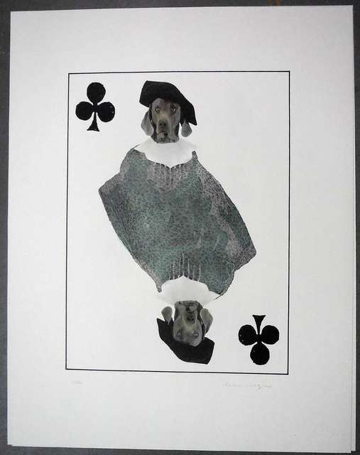 William Wegman, 'limited edition Photo Lithograph Royal Flush Jack', 1990-1999, Print, Lithograph, Paper, Lions Gallery