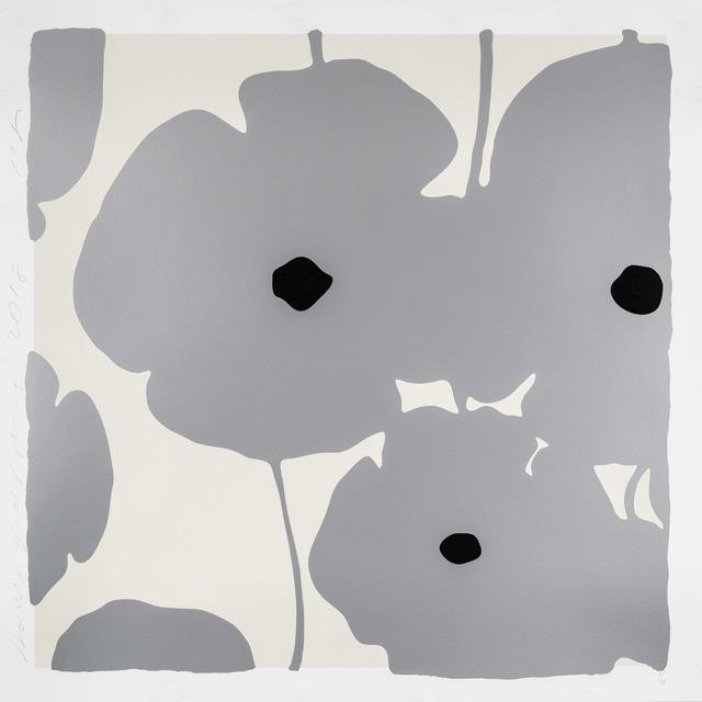 Donald Sultan, 'Silver Poppies', 2018, Maune Contemporary