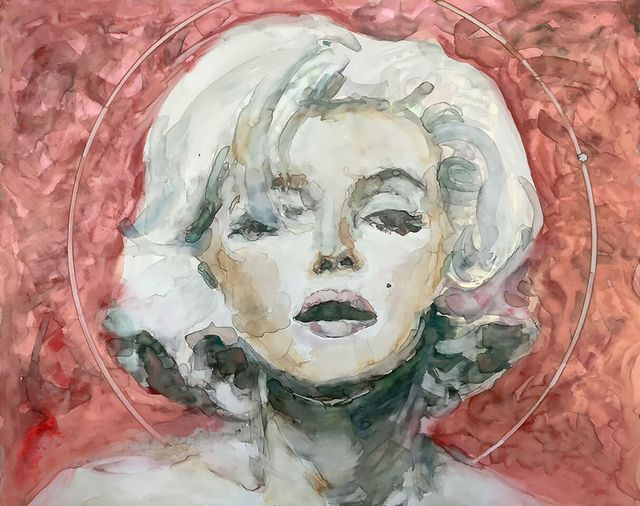 ", '""Dreaming about being an actress is more exciting than being one."" -- Marilyn Monroe,' 2017, Ro2 Art"