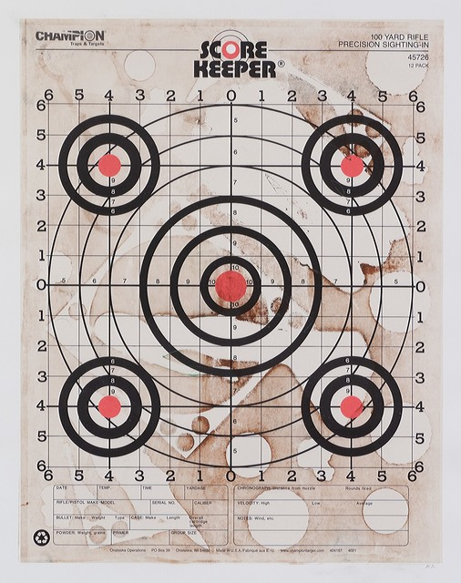 , 'Paper Target Series: Scorekeeper 45726,' 2014, ODETTA